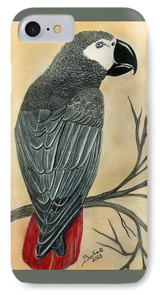 Gray Parrot IPhone Case