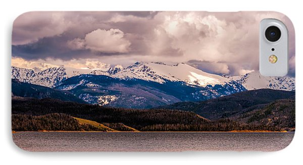 IPhone Case featuring the photograph Gray Skies Over Lake Granby by Tom Potter