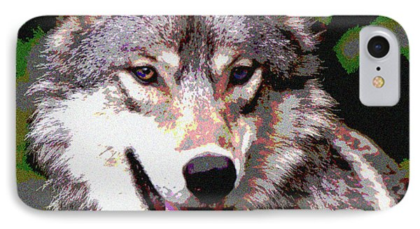 Gray Wolf IPhone Case by Charles Shoup