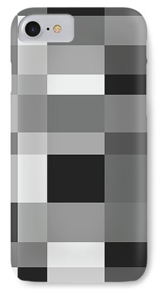 IPhone Case featuring the digital art Grayscale Check by Bruce Stanfield