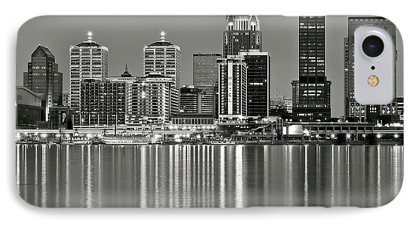 Grayscale Louisville Lights IPhone Case by Frozen in Time Fine Art Photography