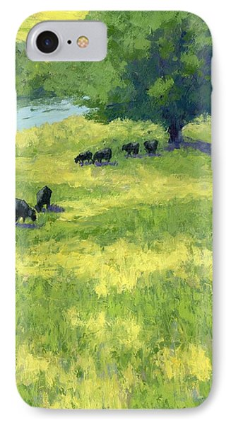 Grazing By The Bear River IPhone Case