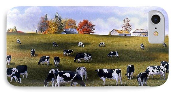 Grazing Holsteins Phone Case by Conrad Mieschke