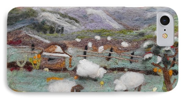 Grazing Woolies IPhone Case by Christine Lathrop