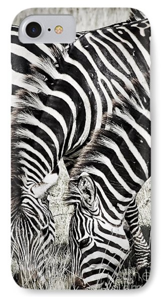 Grazing Zebras Close Up Phone Case by Darcy Michaelchuk