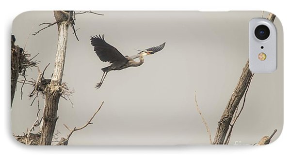 IPhone Case featuring the photograph Great Blue Heron - 6 by David Bearden