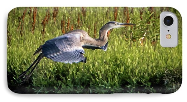 Great Blue Heron Phone Case by Cathy Cooley