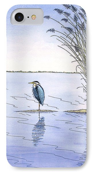 Great Blue Heron IPhone Case by Charles Harden