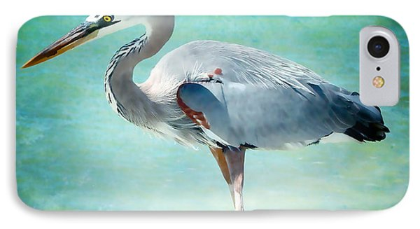 Great Blue Heron IPhone Case by Ellen Heaverlo