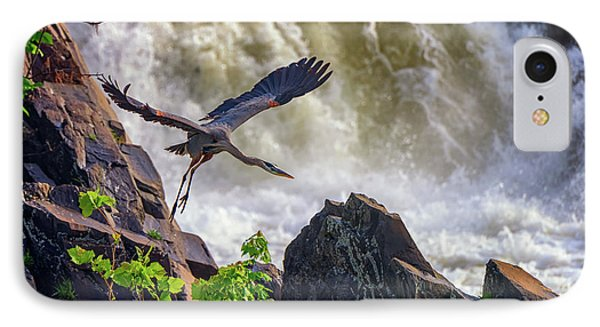 Great Blue Heron In Flight IPhone Case by Rick Berk