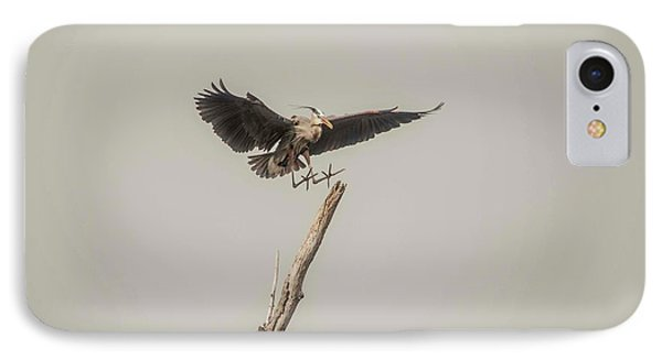 IPhone Case featuring the photograph Great Blue Heron Landing by David Bearden