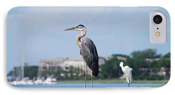 IPhone Case featuring the photograph Great Blue Heron by Margaret Palmer