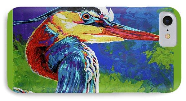 Great Blue Heron Phone Case by Maria Arango