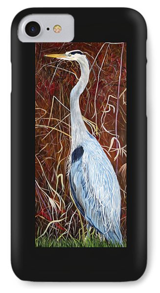 Great Blue Heron IPhone Case by Marilyn  McNish