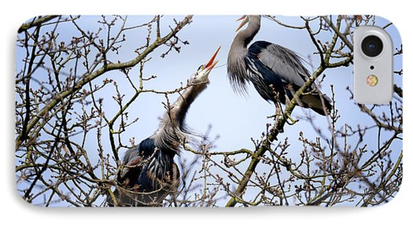 IPhone Case featuring the photograph Great Blue Heron Nesting 2017 - 8 by Terry Elniski