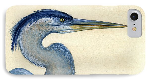 Great Blue Heron Portrait Phone Case by Charles Harden