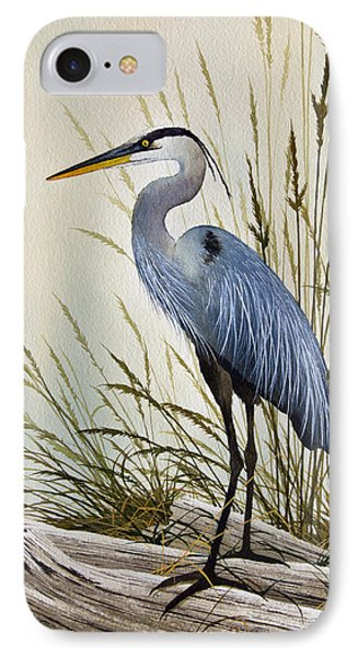 Great Blue Heron Shore Phone Case by James Williamson