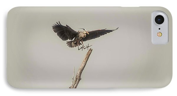 IPhone Case featuring the photograph Great Blue Landing by David Bearden