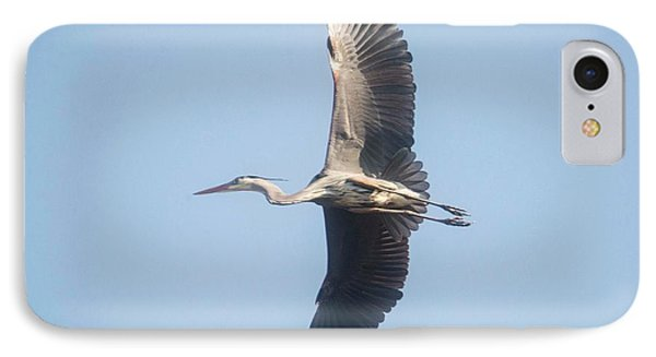 IPhone Case featuring the photograph Great Blue On Final by David Bearden