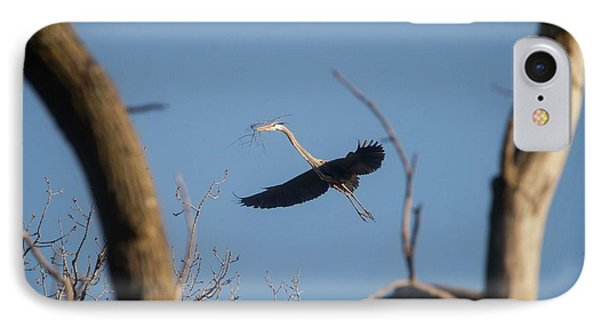 IPhone Case featuring the photograph Great Blues Nesting by David Bearden