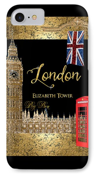 Great Cities London - Big Ben British Phone Booth IPhone Case