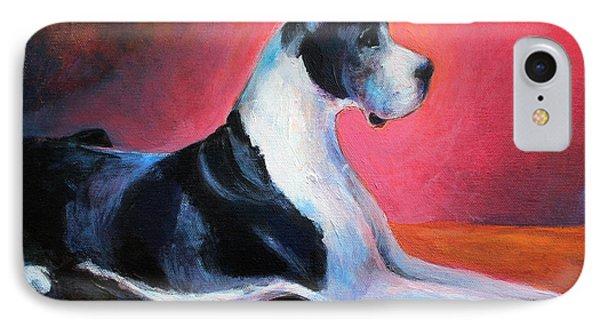 Great Dane Painting Svetlana Novikova IPhone Case by Svetlana Novikova