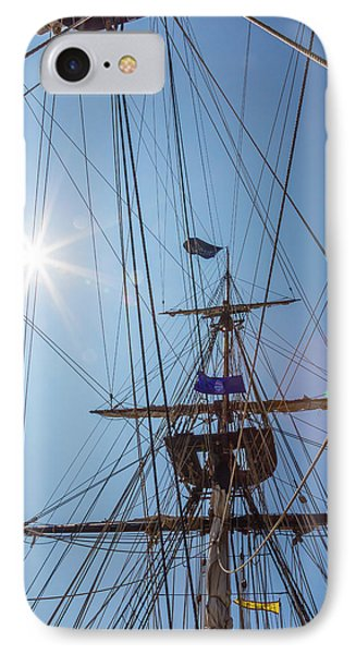 IPhone Case featuring the photograph Great Day To Sail A Tall Ship by Dale Kincaid
