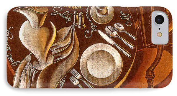 IPhone Case featuring the painting Great Dining by Leon Zernitsky