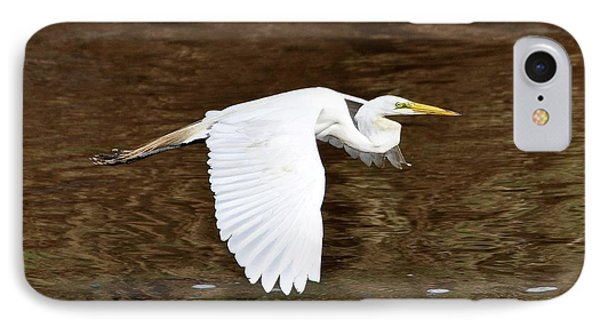 Great Egret In Flight Phone Case by Al Powell Photography USA