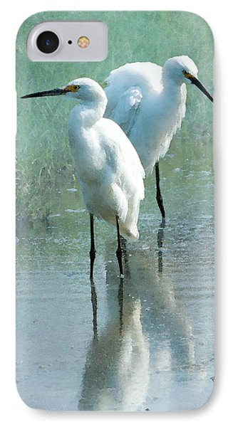 Great Egrets Phone Case by Betty LaRue