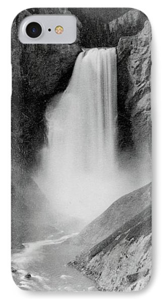 Great Falls Of The Yellowstone IPhone Case by Frank Jay Haynes