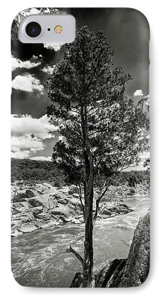 Great Falls Tree IPhone Case by Paul Seymour