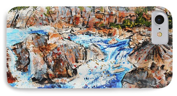 Great Falls Waterfall 201745 Phone Case by Alyse Radenovic