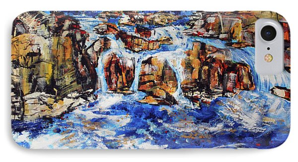 Great Falls Waterfall 201753 Phone Case by Alyse Radenovic