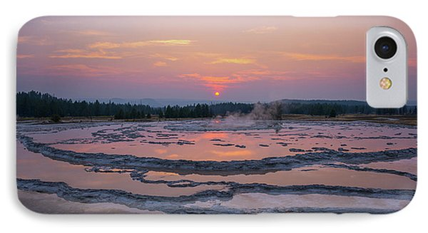 Great Fountain Geyser Sunset Reflections IPhone Case