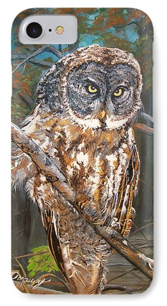 Great Grey Owl 2 IPhone Case by Sharon Duguay