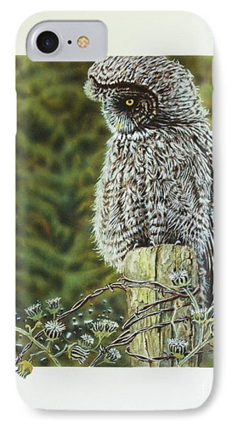 Great Grey Owl Phone Case by Greg and Linda Halom