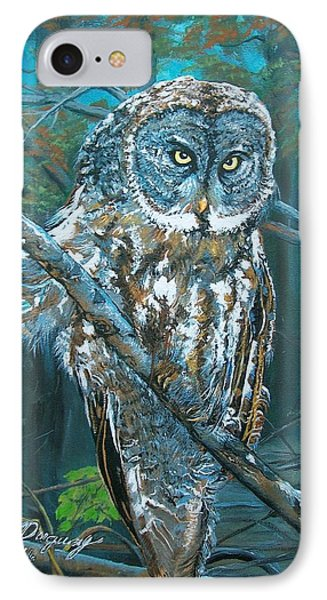 Great Grey Owl IPhone Case by Sharon Duguay