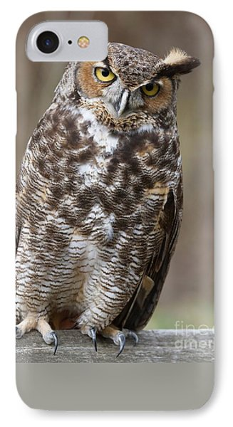 IPhone Case featuring the photograph Great Horned Owl 3 by Chris Scroggins