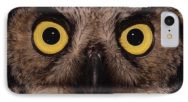 Great Horned Owl Face Phone Case by Tony Beck