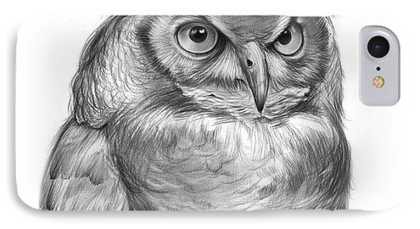 Great Horned Owl IPhone Case by Greg Joens