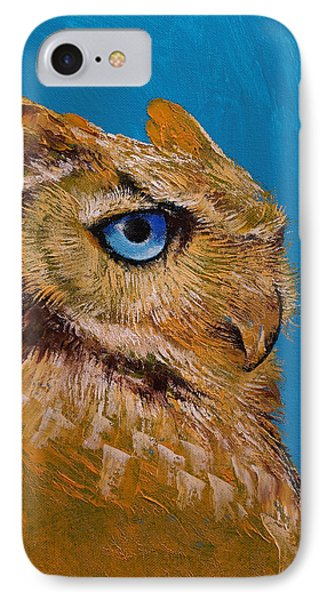 Great Horned Owl IPhone Case by Michael Creese