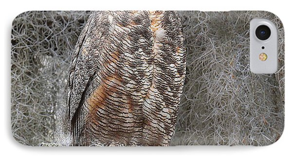 Great Horned Owl Perched IPhone Case