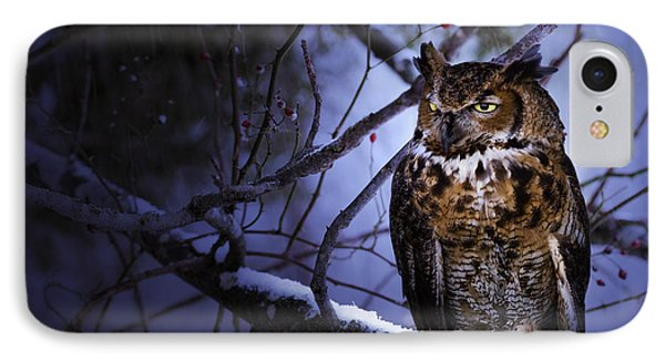 Great Horned Phone Case by Ron Jones