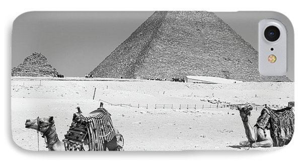 IPhone Case featuring the photograph great pyramids of Giza by Silvia Bruno