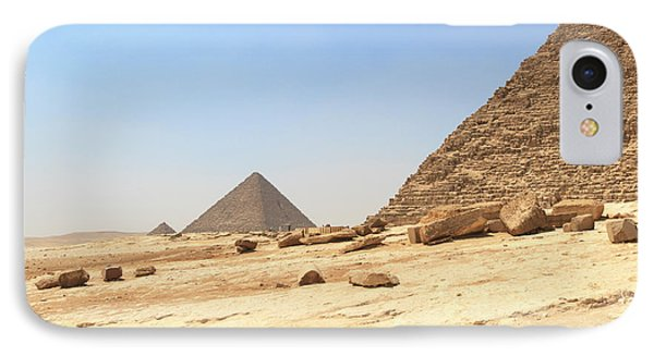 IPhone Case featuring the photograph Great Pyramids Of Gizah by Silvia Bruno