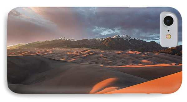 Great Sand Dunes Sunset IPhone Case by Aaron Spong