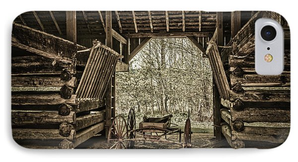 Great Smoky Mountains National Park, Tennessee - Broken Wagon. Cades Cove IPhone Case