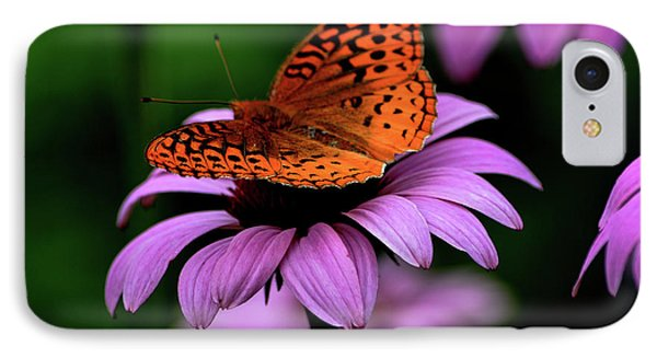 IPhone Case featuring the photograph Great Spangled Fritillary by Brenda Bostic