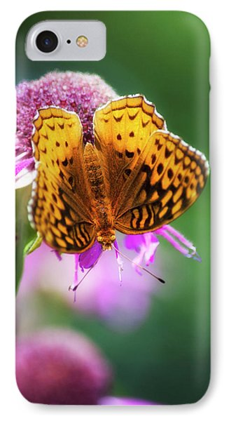 Great Spangled Fritillary Butterfly Phone Case by Christina Rollo